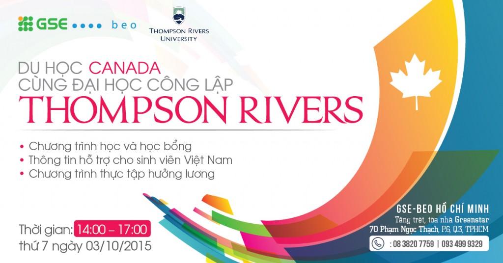 GIAO LƯU VÀ TUYỂN SINH TRỰC TIẾP ĐẠI HỌC THOMPSON RIVERS, CANADA  TẠI THÀNH PHỐ HỒ CHÍ MINH