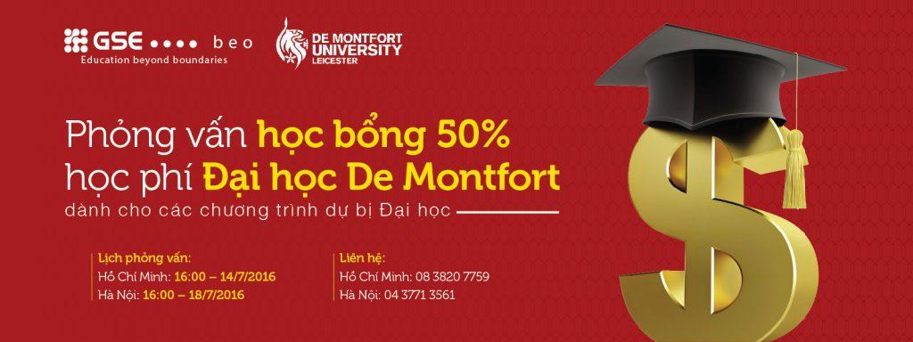 PHỎNG VẤN HỌC BỔNG LÊN TỚI 50% HỌC PHÍ CỦA ĐẠI HỌC DE MONTFORT
