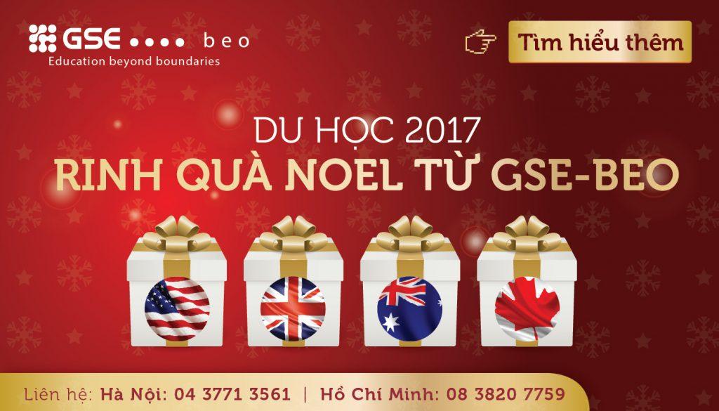 TƯNG BỪNG NOEL – RINH QUÀ TẶNG MÙA DU HỌC 2017