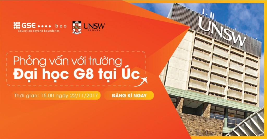 Ngày hội Tư vấn Tuyển sinh với ĐH New South Wales, Top 8 trường ĐH tốt nhất Úc