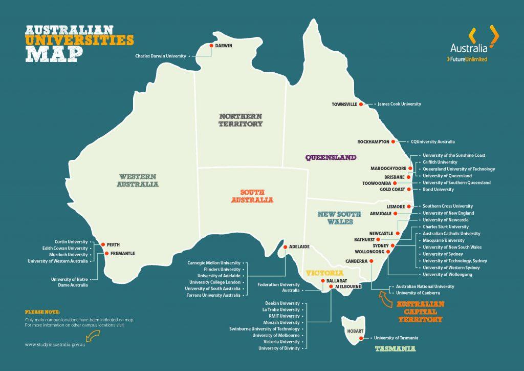 Danh sách Học bổng du học Úc kỳ nhập học tháng 10/2018