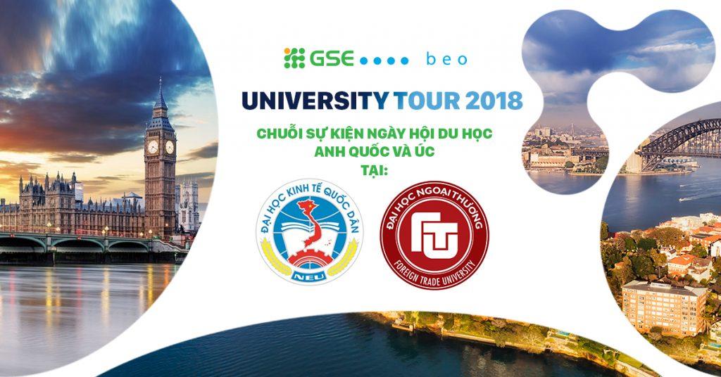 UNIVERSITY TOUR 2018 – Chuỗi sự kiện Ngày hội Du học Anh & Úc tại ĐH Kinh tế Quốc dân và ĐH Ngoại thương