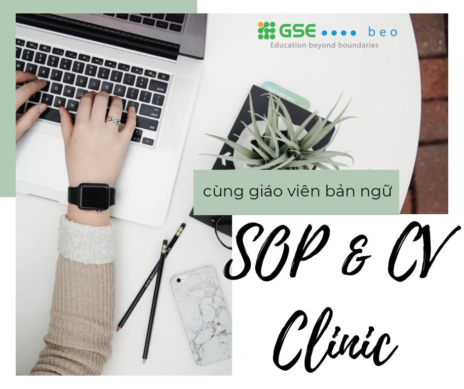 """""""SOP&CV Clinic"""" – Dịch vụ sửa bài luận và CV cùng giáo viên bản ngữ"""