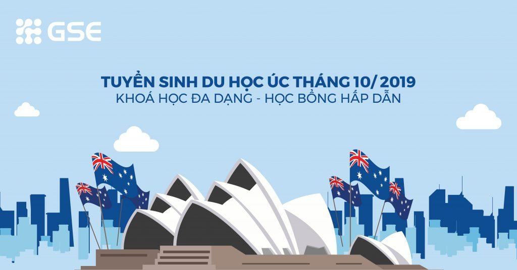 Danh sách Học bổng Úc kỳ nhập học tháng 10/2019 (cập nhật liên tục)